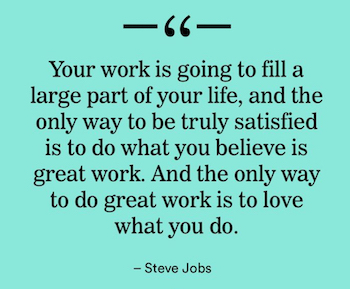 Steve Jobs quote on work and love